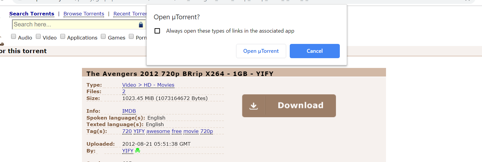 piratebay torrent download