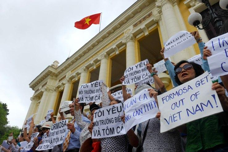 Vietnam protests against environmental degradation