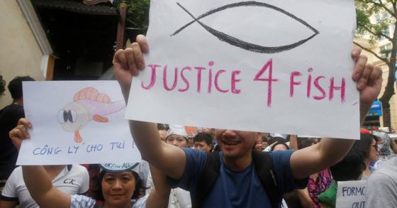Justice for Fish Vietnam Protest