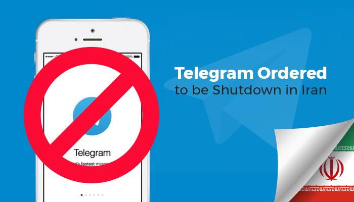 Telegram Ordered to be Shutdown in Iran