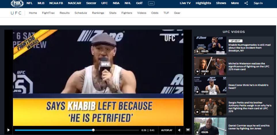 Mcgregor vs Khabib Live Online