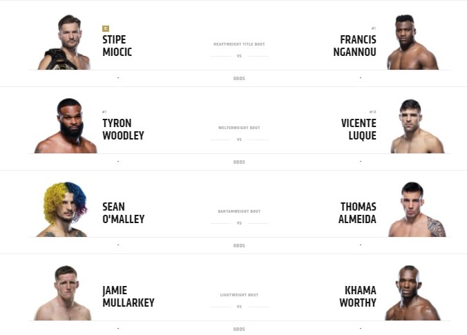 UFC-260-Main-Fight-Card