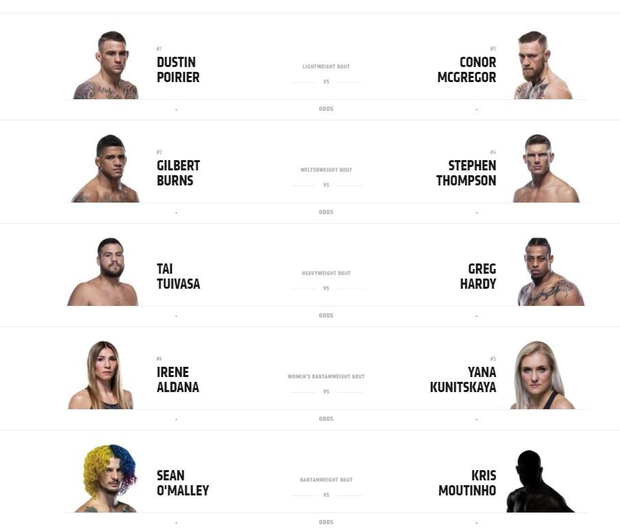 UFC-264-Fight-Card